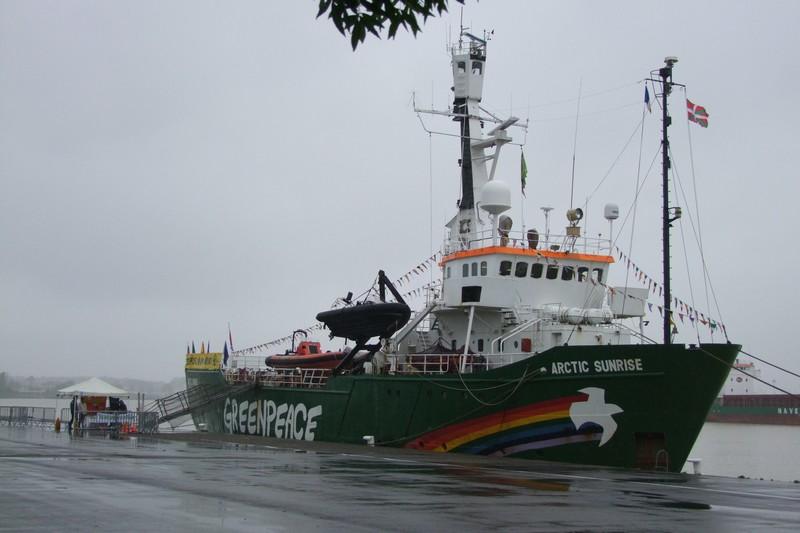 escale à Bayonne d'un navire de green peace Dscf1710