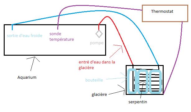 Mon système de refroidissement de mon aquarium Schama10