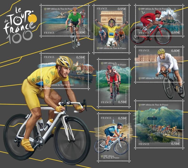 Timbres (France) - Tour de France 2013 (Cyclisme) Bloc_t10