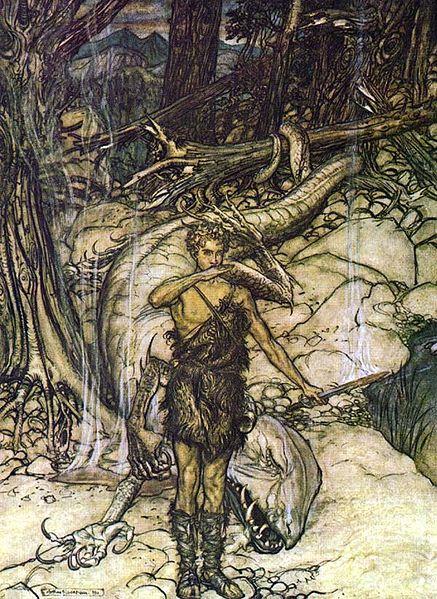 سيمفونية كاملة لالحان اوبرات خاتم نيبيلونج Der Ring des Nibelungen  من اعمال ريتشارد فاجنر وقصة بناء مسرح بايرويت  437px-10