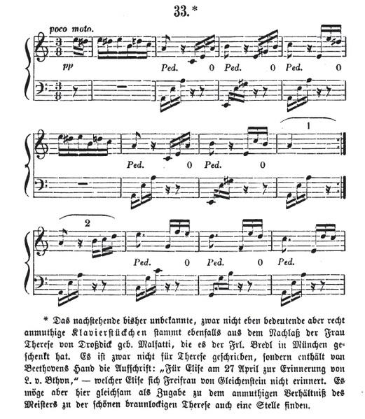 باجاتيل للبيانو رقم 25 المعروف باسم (من اجل اليز) من اشهر اعمال بيتهوفن Bagatelle in A- ('Für Elise') WoO 59  521px-10
