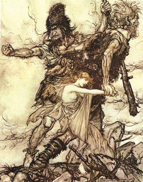 سيمفونية كاملة لالحان اوبرات خاتم نيبيلونج Der Ring des Nibelungen  من اعمال ريتشارد فاجنر وقصة بناء مسرح بايرويت  Thegia10