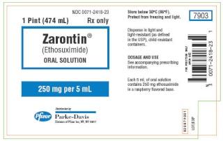 L'éthosuximide: zarontin Zaront10