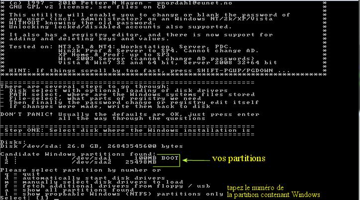 Ultimate Boot CD v5 : Tester son matériel, modifier une partition, supprimer un mot de passe de session, récupération de données... Image_14