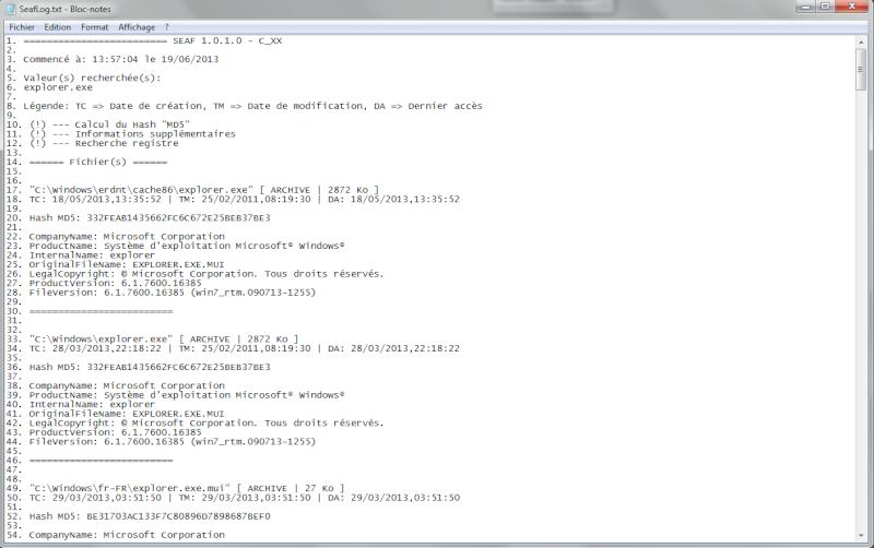 SEAF : pour trouver un(e) fichier/dossier/clé de registre Seaf_r11