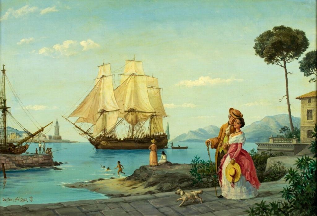 GUSTAVE ALAUX, peintre de marine Alauxp11