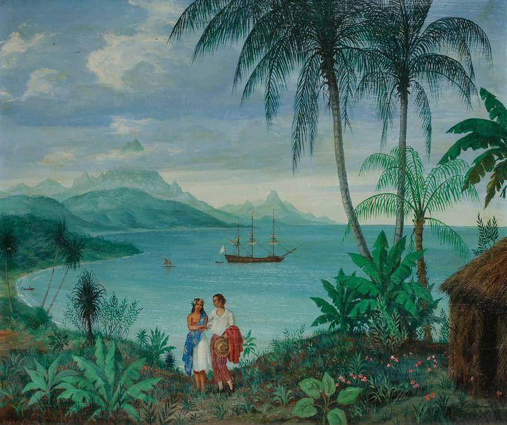 GUSTAVE ALAUX, peintre de marine Gustav10