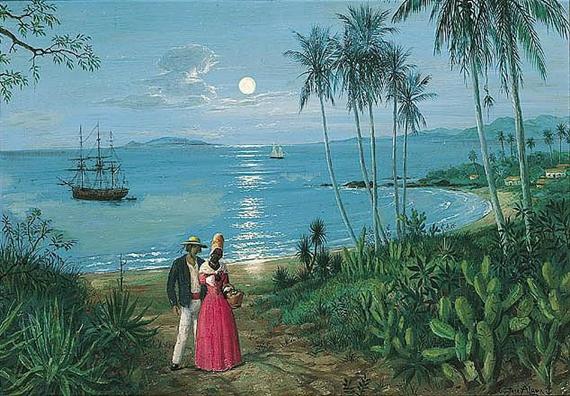 GUSTAVE ALAUX, peintre de marine Moon10