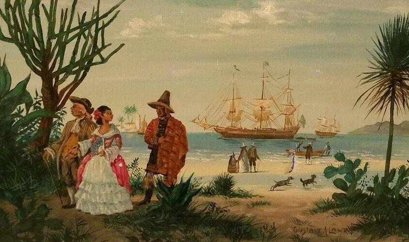 GUSTAVE ALAUX, peintre de marine S-l16010