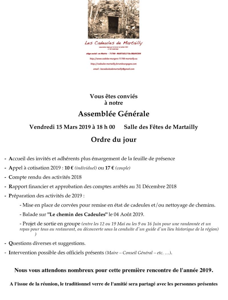 """""""CADEULES de MARTAILLY"""" ASSEMBLEE GENERALE Convoc10"""