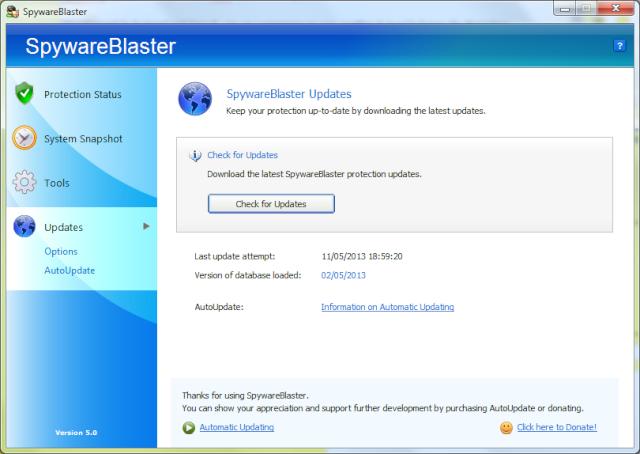 SpywareBlaster 5.0 Spywar11