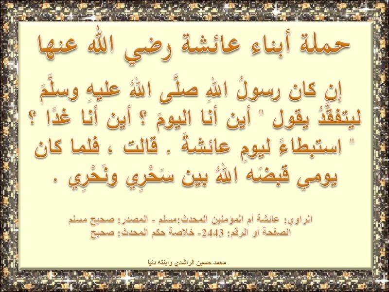 فضائل عائشة رضي الله عنها O10