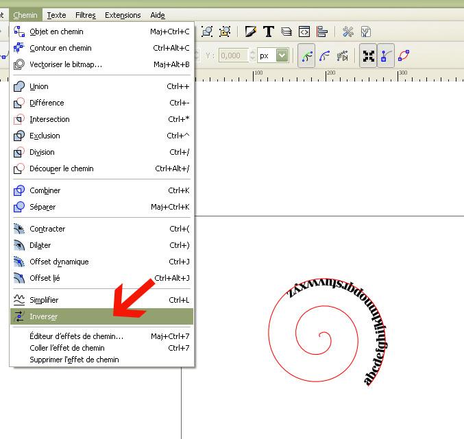 Inkscape + écriture spirale Sans_t38