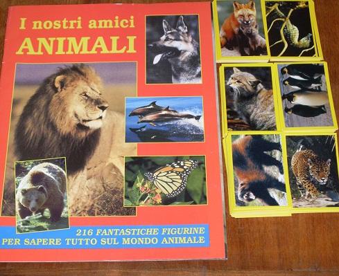 ALBUM FIGURINE I NOSTRI AMICI ANIMALI VUOTO SET COMPLETO OTTIME CONDIZIONI