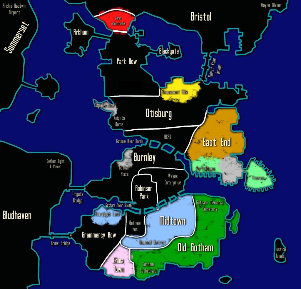 Carte des Territoires et des Zones d'Influence Gotham10