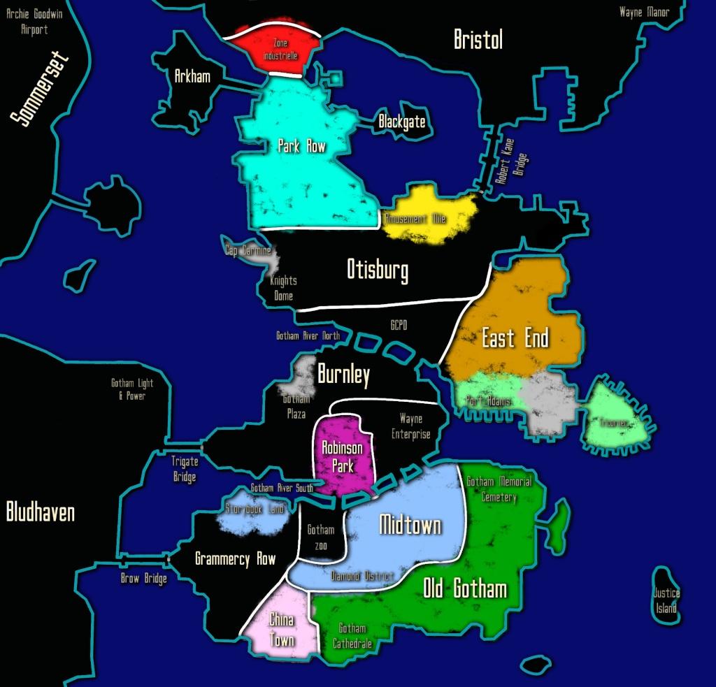Carte des Territoires et des Zones d'Influence Gotham11