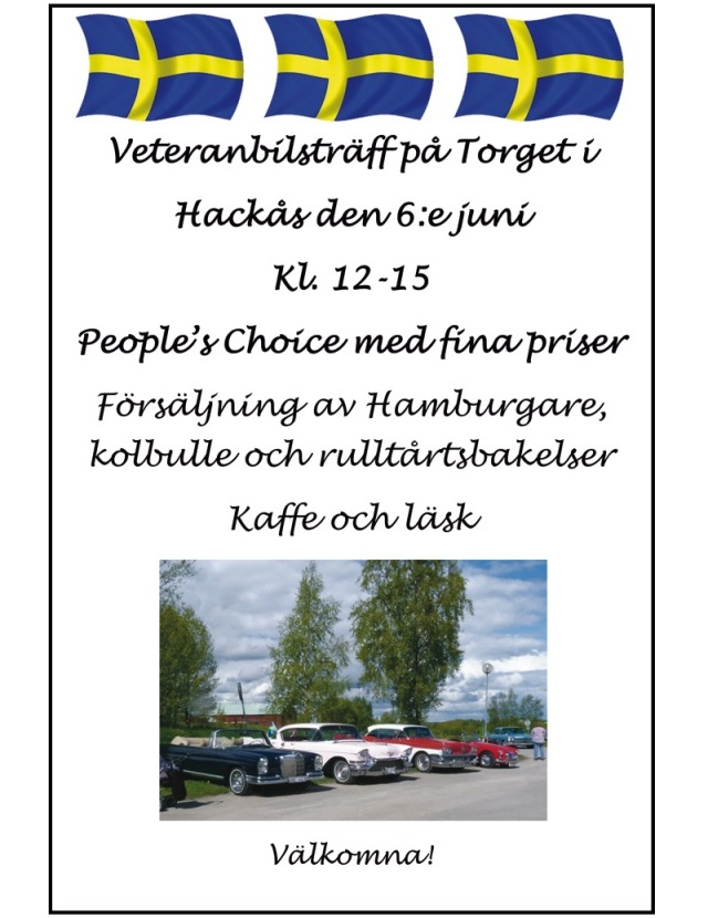 Veteranbilsträff i Hackås Nation10