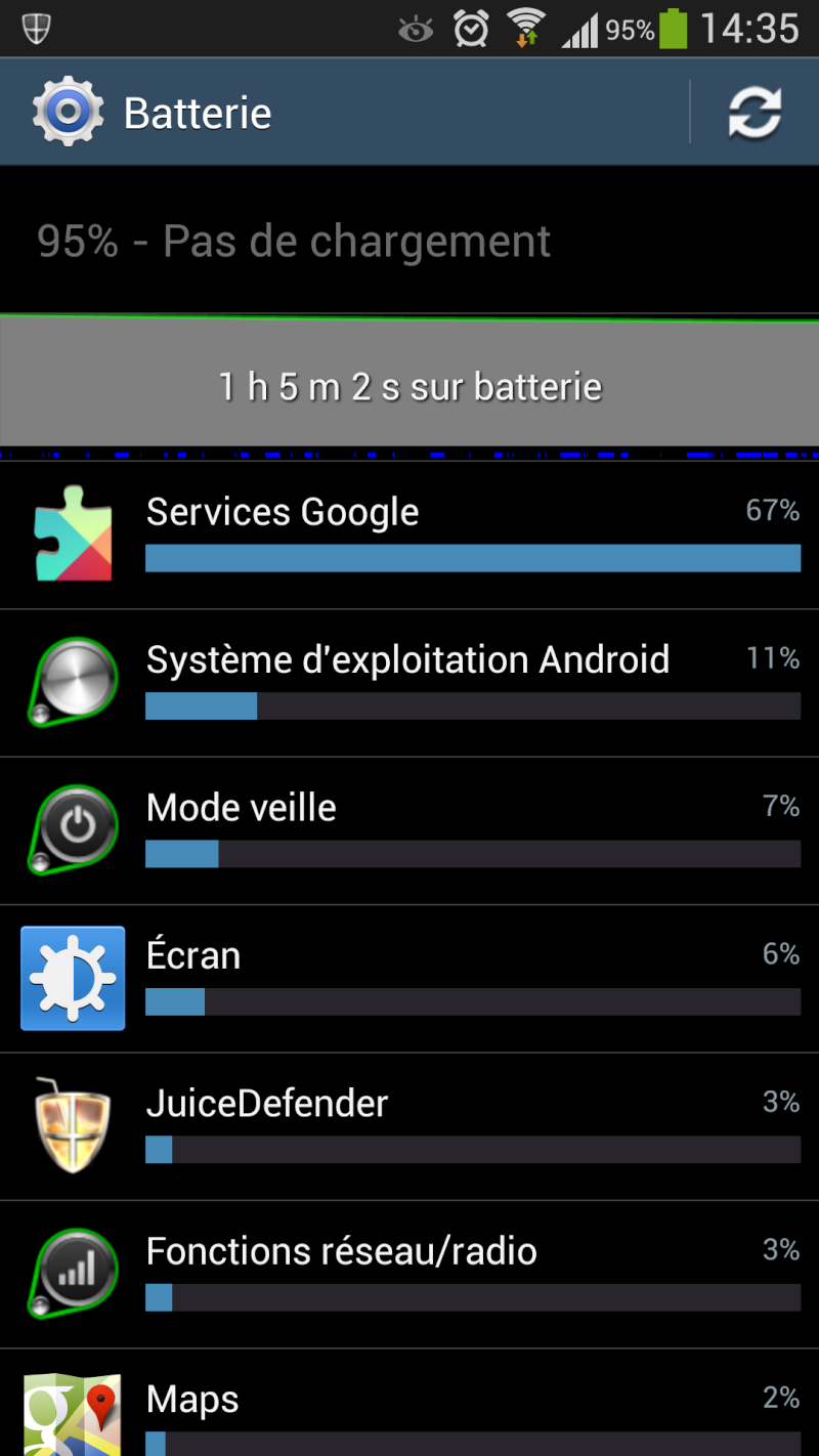 """[AIDE] Utilisation de la batterie des """"services google"""" Screen11"""