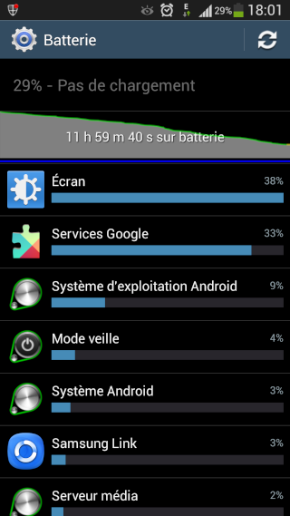 """[AIDE] Utilisation de la batterie des """"services google"""" Screen12"""