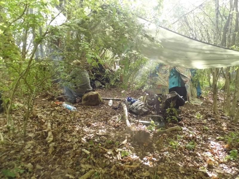 Bretagne : Avec abris de survie & tente de sudation  P1010212