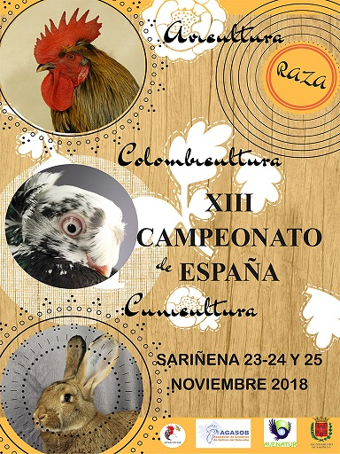 XIII Campeonato de España de Avicultura, Colombicultura y Cunicultura (Sariñena) 2018  Sarine10