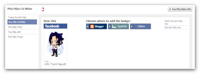 Tạo Huy Hiệu Facebook của riêng bạn. Ashamp11