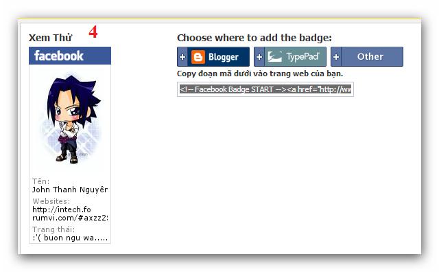 Tạo Huy Hiệu Facebook của riêng bạn. Ashamp13
