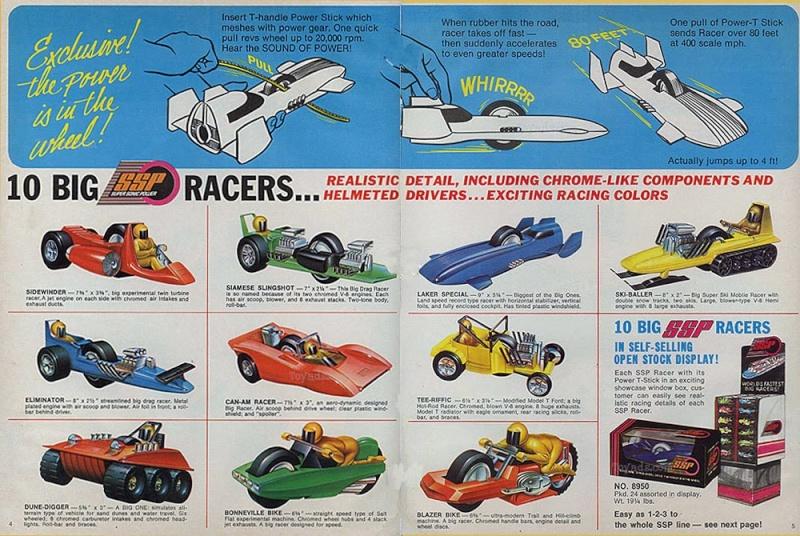 Cascadeurs Giro Jet et  Kenner SSP racers Sspad10