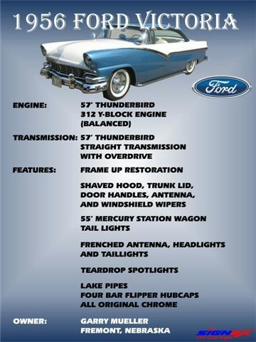 Ford 1955 - 1956 custom & mild custom T2ec1615