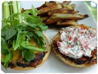 Burgers de poulet aux tomates séchées et au citron Burger10