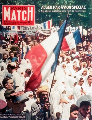 Image result for paris match mai 1958