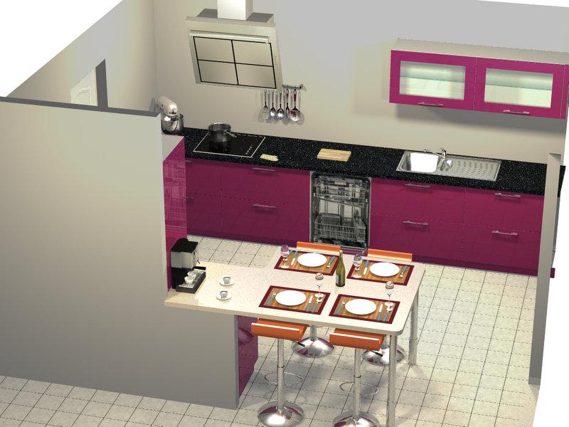 cuisine dans maison neuve. Black Bedroom Furniture Sets. Home Design Ideas