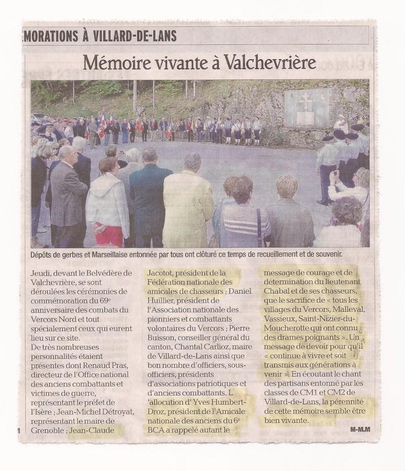 _ Commémoration des Combats du Vercors Nord.  Valche10