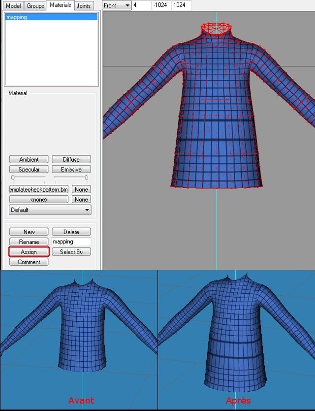 [Apprenti]Allonger et élargir le mesh d'un vêtement Fig13-10