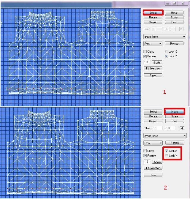 [Apprenti]Allonger et élargir le mesh d'un vêtement Fig27-10