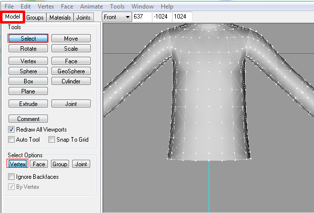 [Apprenti]Allonger et élargir le mesh d'un vêtement Fig910