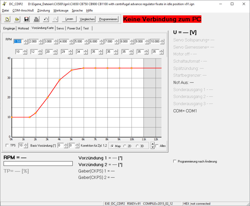 Zündung CDI / TCI Vorzue10