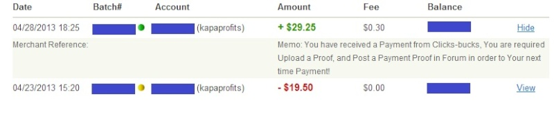 My first payment under the new rules. 04-29-12