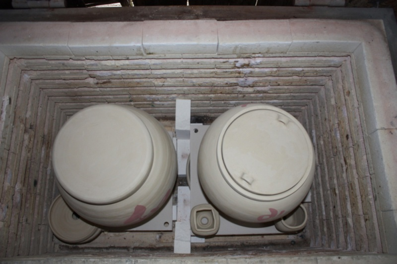First firing in converted gaskiln Ofen_i10