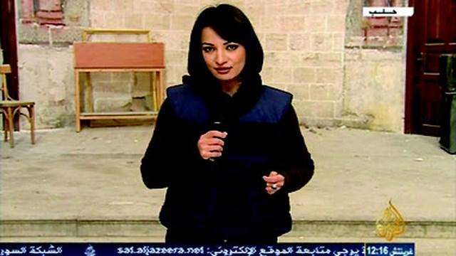 """أمير بـ """"جبهة النصرة"""" يغتصب مراسلة الجزيرة """"غادة عويس"""" في سوريا 3wess10"""