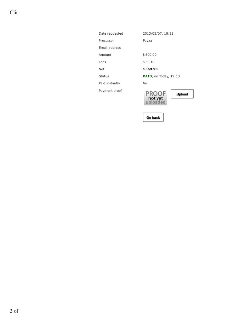 Payment Proof # 11 $ 569.90 Lala5-10
