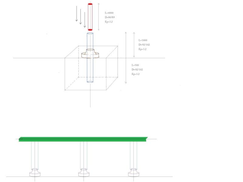 Création d'un portique pour fixation d un store electrique. Croqui13