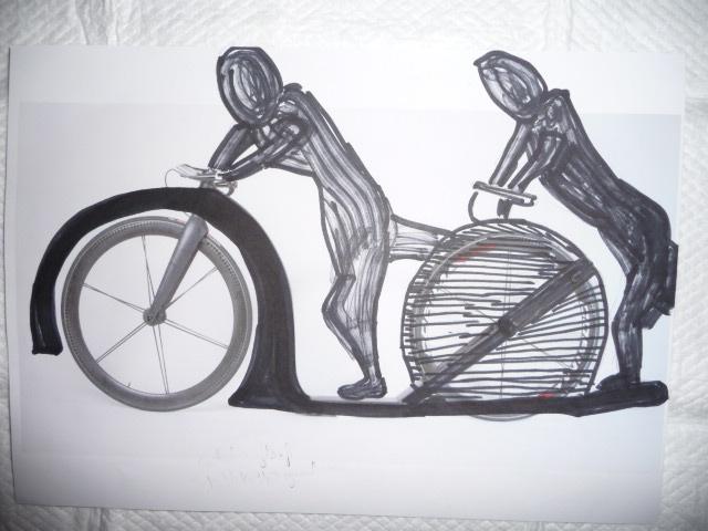 Projet sportif de Trottinette ou footbike tandem avec non voyant P1040511