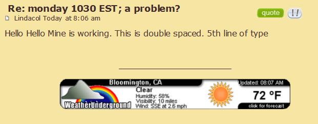 monday 1030 EST; a problem? 138010