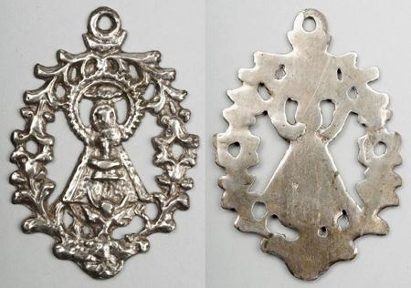 Medalla de ventana: VIRGEN DE EL HENAR. S. XVIII-XIX (R.M. PFV Henar 1) Henar-10
