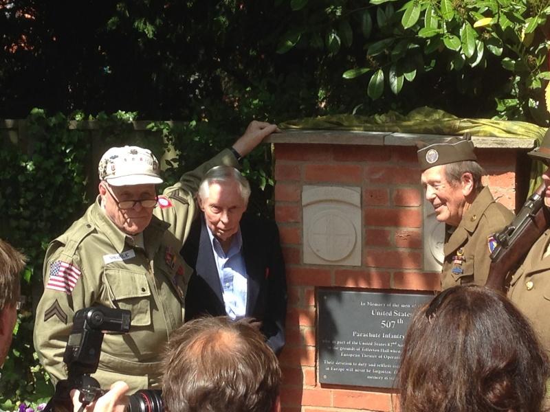 Tollerton Hall, 507PIR Memorial Unveiling  Img_1217