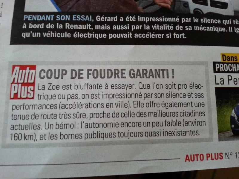 Essai par des lecteurs d'Autoplus de la ZOE 2013-012