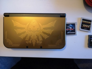 NEW 3 DS XL  HYRULE EDITION + LINKER SKY 3DS+(autres linkers +boite+chargeur) Img_2023