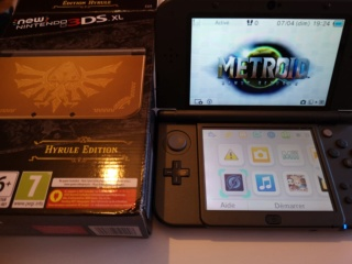 NEW 3 DS XL  HYRULE EDITION + LINKER SKY 3DS+(autres linkers +boite+chargeur) Img_2024