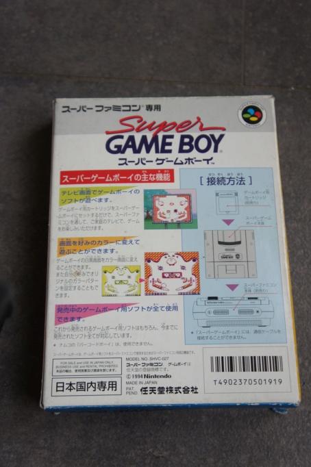 [VDS] super game boy jap en boite, alimentation jap pc engine GT/ LT Dsc06716